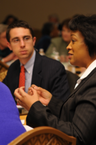 Participants at the 2008 National Symposium on Health Care Reform in Leesburg, VA discuss reform priorities.
