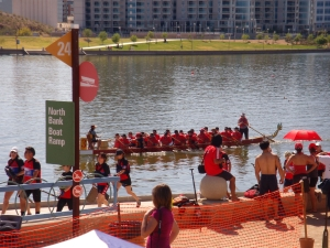 Seeing Red! Mayo paddlers prepare to give it their all!
