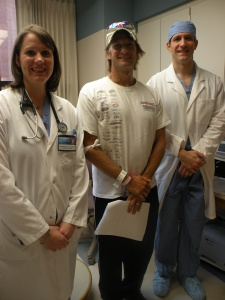 Erika Halverson, Darrin Nelson and Dr. Suri