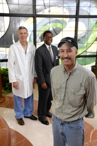 Ron Reffit with Dr. Hartzel Schaff and Dr. Vuyisile Nkomo